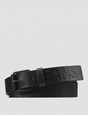LOGO EMBOSSED LEATHER BELT