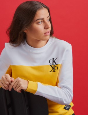 COLOUR BLOCK MONOGRAM SWEATSHIRT