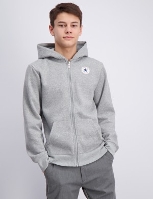 Fleece Chuck Patch Full Zip Hoodie