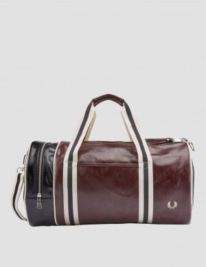 Color Block Classic Barrel Bag