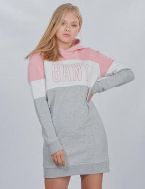 D1. GANT GIRLS BLOCK HOODIE DRESS