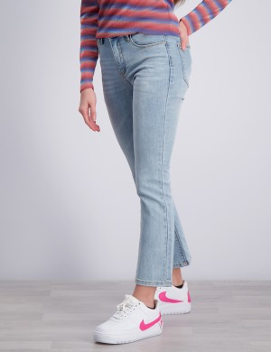 Flare Air Blue Croped Jeans