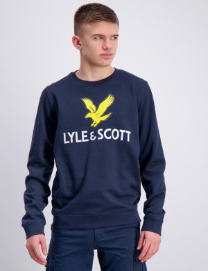 Lyle Eagle Logo LB Crew Sweat