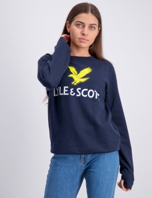 Lyle Eagle Logo LB Crew Sweat