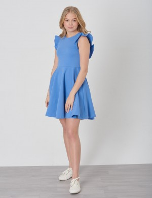 RUFFLE DRESS-DRESSES-KNIT