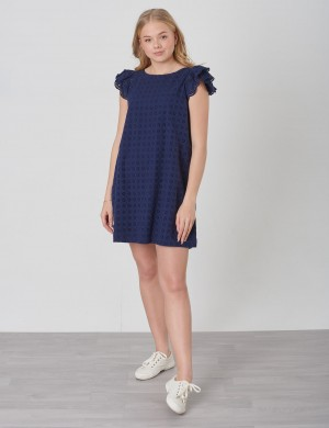 EYELET DRESS-DRESSES-WOVEN
