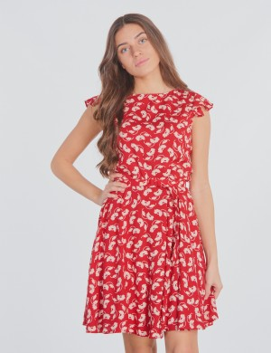 FLUTTER SLV-DRESSES-WOVEN