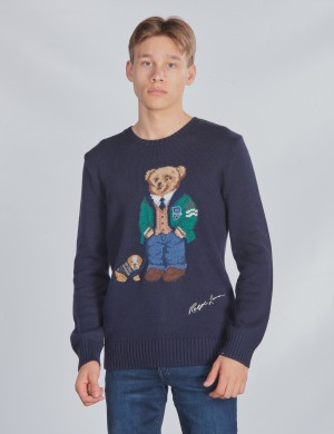 LS CN BEAR-TOPS-SWEATER