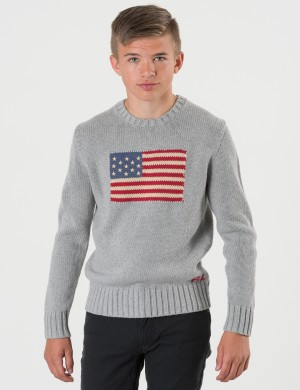 FLAG CREW NECK SWEATER