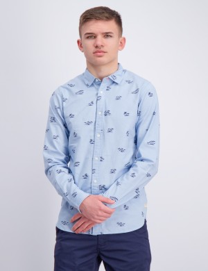Stretch oxford long sleeve shirt