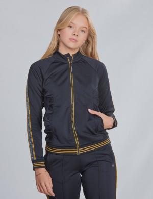 Mercerized track jacket
