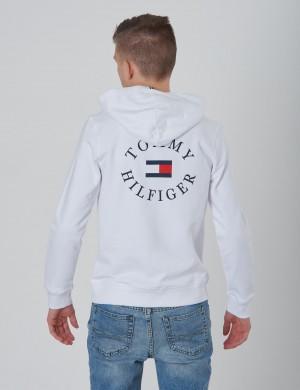 online store 79342 d8e30 HILFIGER LOGO ZIP HOODIE