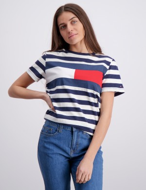 CUT & SEW STRIPE TEE