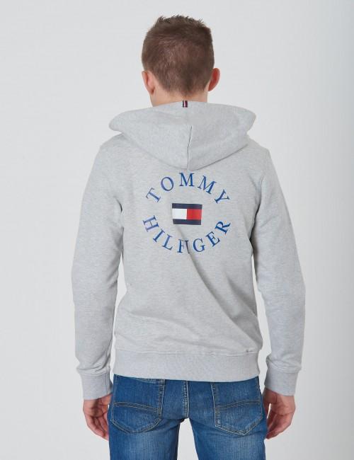 Tommy Hilfiger barnkläder - HILFIGER LOGO ZIP HOODIE