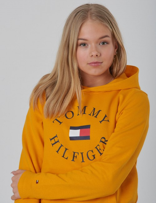Tommy Hilfiger barnkläder - HILFIGER LOGO HOODIE