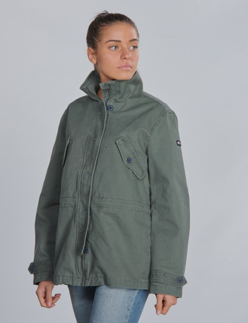 COTTON TWILL SHORT PARKA