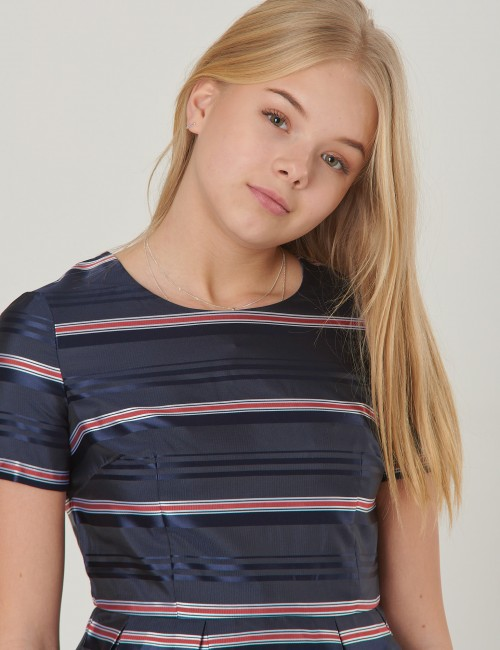 Tommy Hilfiger barnkläder - SIGNATURE SATIN STRI