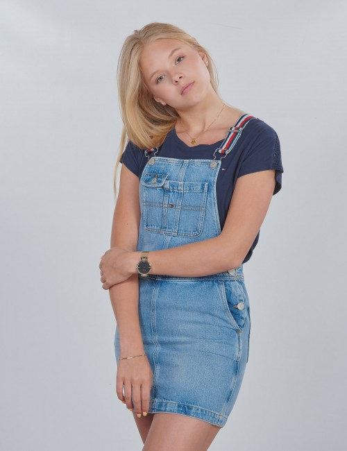 Tommy Hilfiger barnkläder - DUNGAREE DRESS LBBR