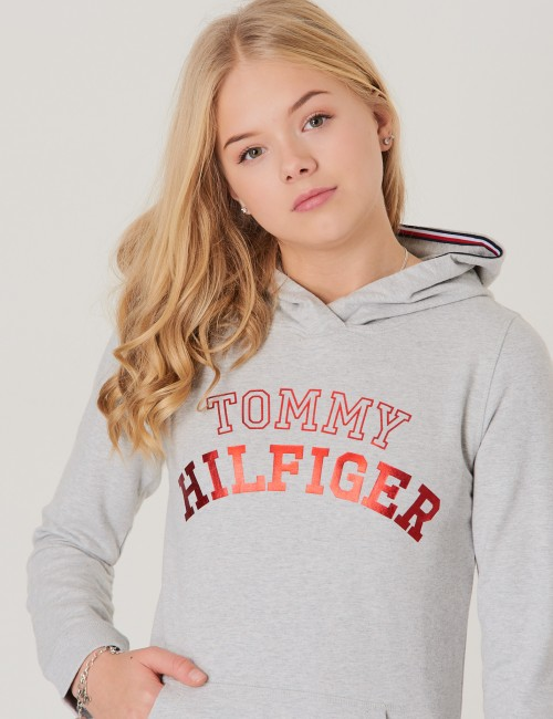 Tommy Hilfiger - ESSENTIAL LOGO HOODIE DRESS