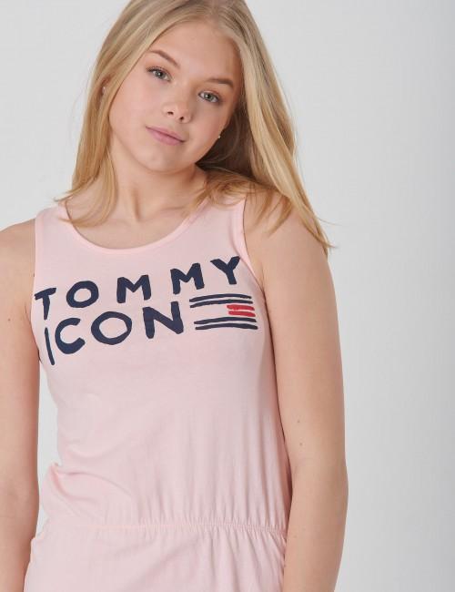 Tommy Hilfiger barnkläder - ESSENTIAL ICON KNIT DRESS SLVLS