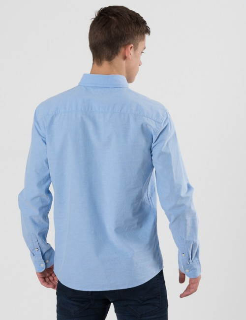 Tommy Hilfiger barnkläder - SOLID OXFORD SHIRT L/S
