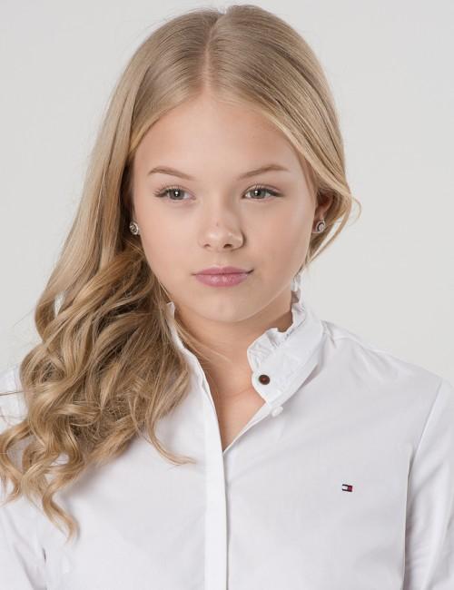 Tommy Hilfiger barnkläder - RUFFLE COLLAR SHIRT L/S