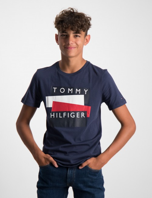 TOMMY HILFIGER STICKER TEE S/S