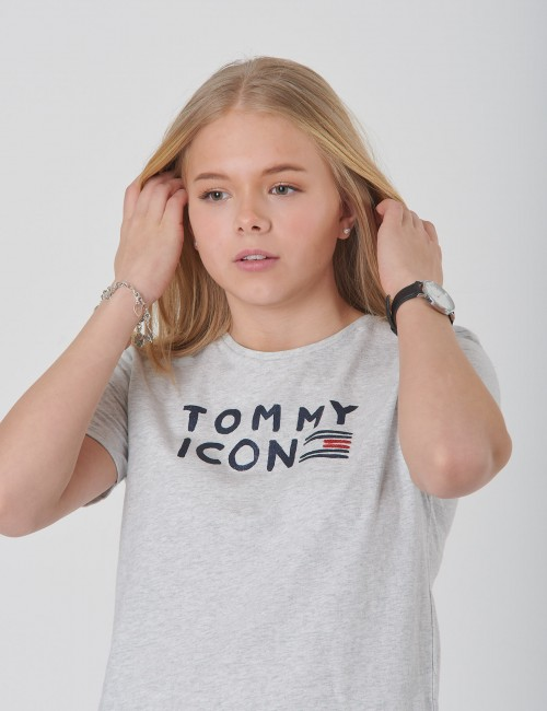 Tommy Hilfiger - TOMMY FLAG ICON S/S TEE GLITTER