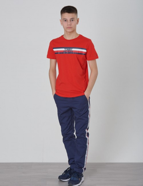 Tommy Hilfiger barnkläder - ESSENTIAL GLOBAL STRIPE TEE S/S