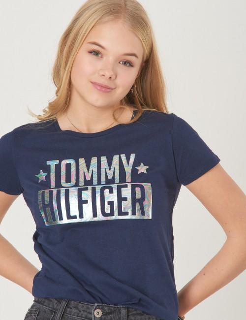 Tommy Hilfiger - FOIL LOGO TEE S/S