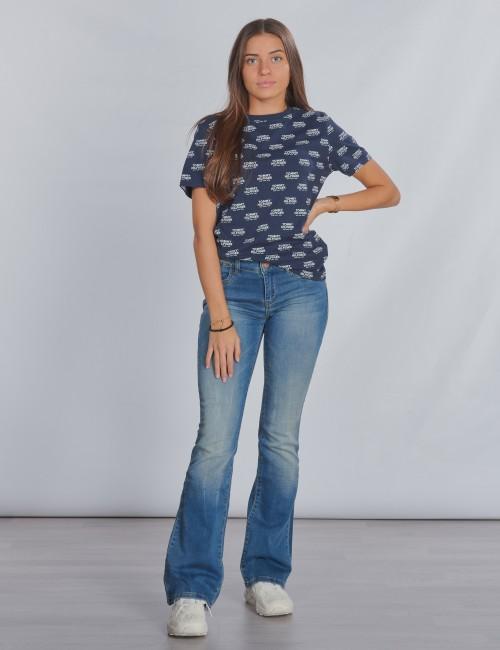 Tommy Hilfiger barnkläder - ALL OVER PRINT LOGO TEE S/S