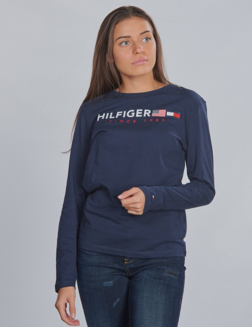 Tommy Hilfiger - FLAGS GRAPHIC TEE L/S
