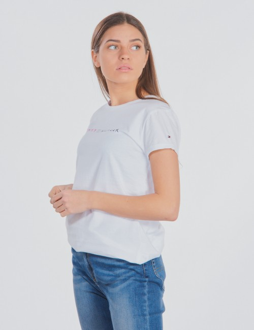 Tommy Hilfiger barnkläder - ESSENTIAL TOMMY ROLL UP TEE