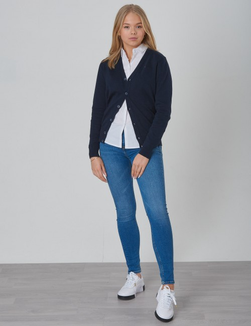 Tommy Hilfiger barnkläder - BOYS BASIC V-NECK CARDIGAN