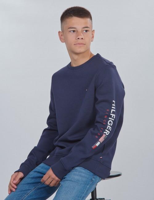 Tommy Hilfiger barnkläder - FLAGS INTERLOCK CREW