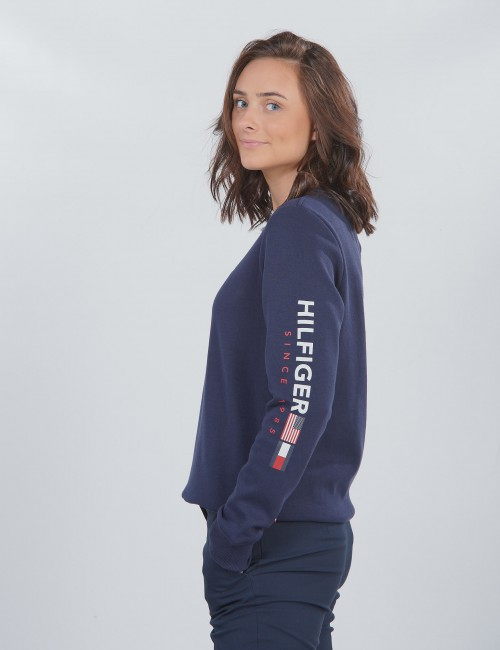 Tommy Hilfiger barnkläder - FLAGS INTERLOCK CREW