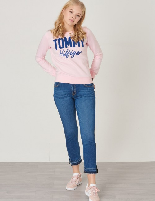 Tommy Hilfiger barnkläder - MIXED APPLIQUE SWEAT