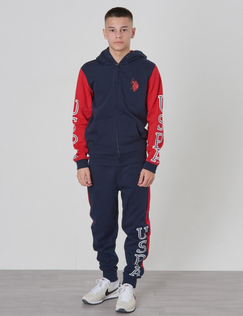U.S. Polo Assn. barnkläder - Varsity BB Sweat Zip Hoodie