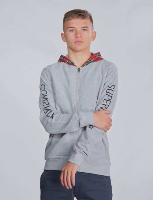 WeSC barnkläder - TARTAN ZIP HOODIE