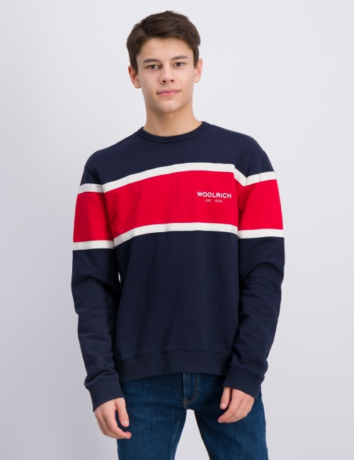 Woolrich barnkläder - BLOCK CREW NECK