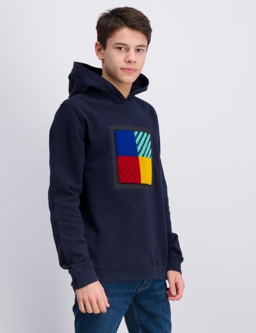 Woolrich barnkläder - PATCH LOGO HOODIE