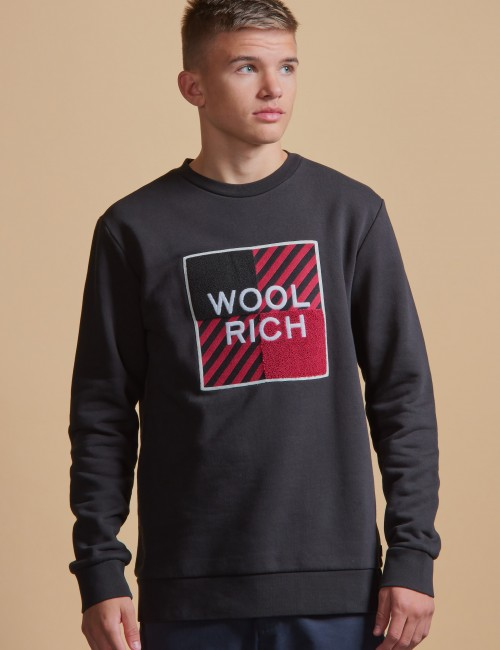 Woolrich - BUFFALO LOGO CREW NECK